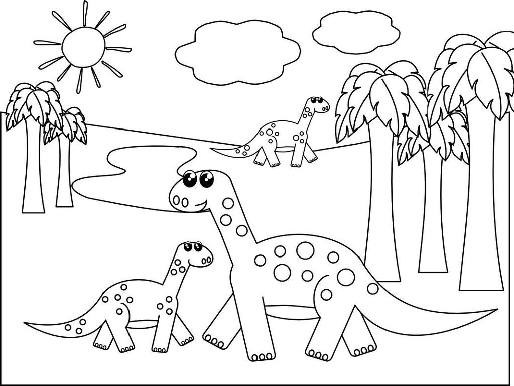 Educational Dinosaur Coloring Pages Kids Pinterest Free Printable