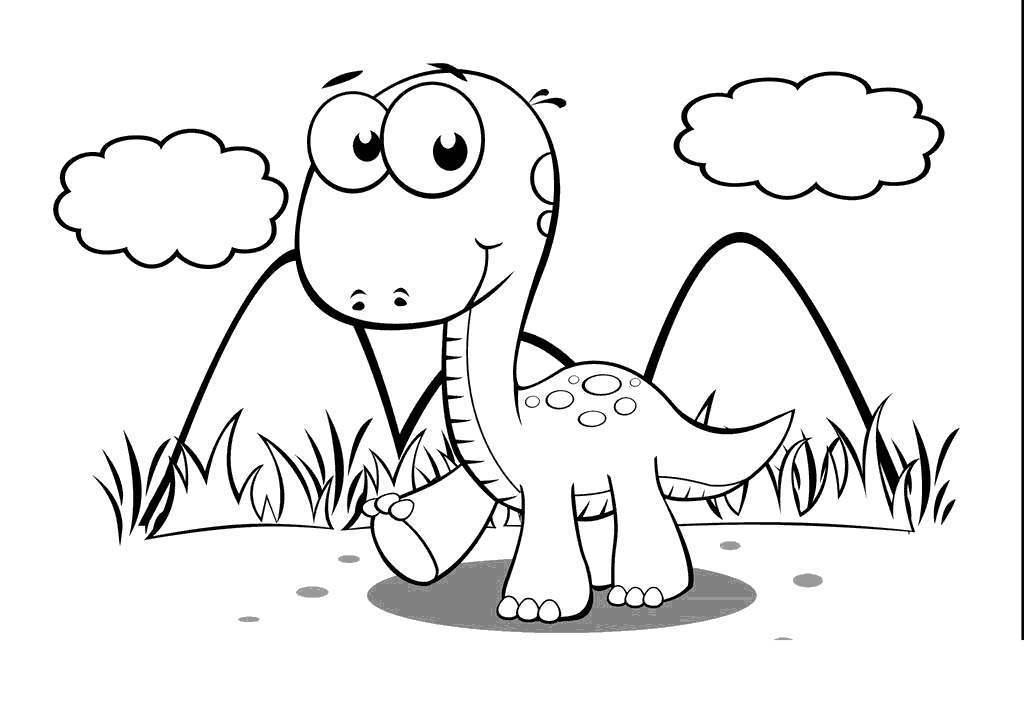 Educational Dinosaur Coloring Pages Preschool Worksheets