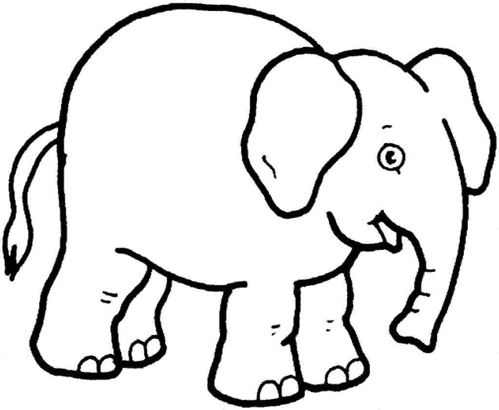 Elmer The Elephant Coloring Pages Kids Black And White Free