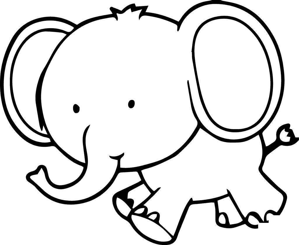 photograph regarding Elephant Outline Printable identify Elmer The Elephant Coloring Internet pages Youngsters Define - No cost