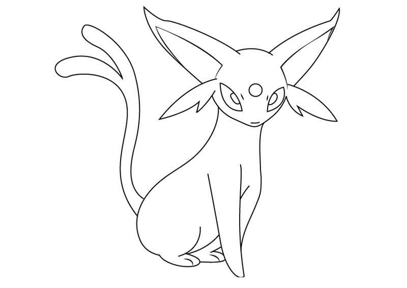 Free Espeon from Pokemon Coloring Pages printable