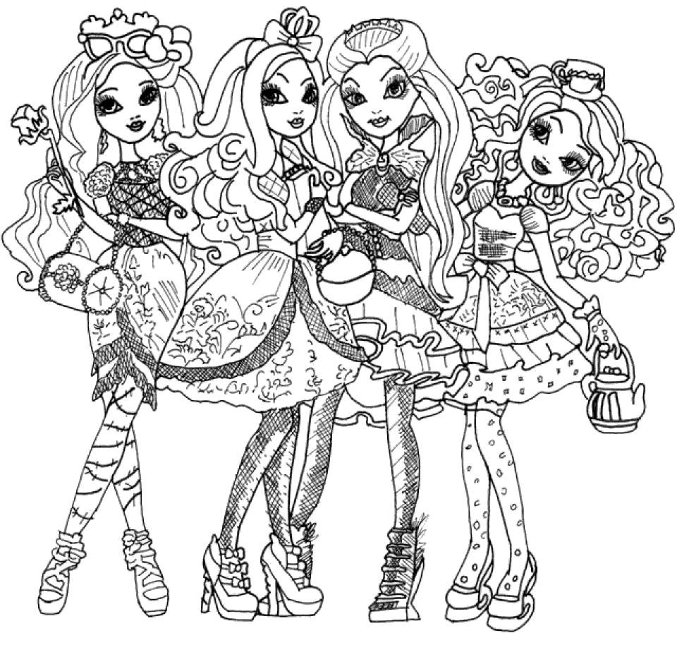 Free Ever After High Coloring Pages  for Boys printable
