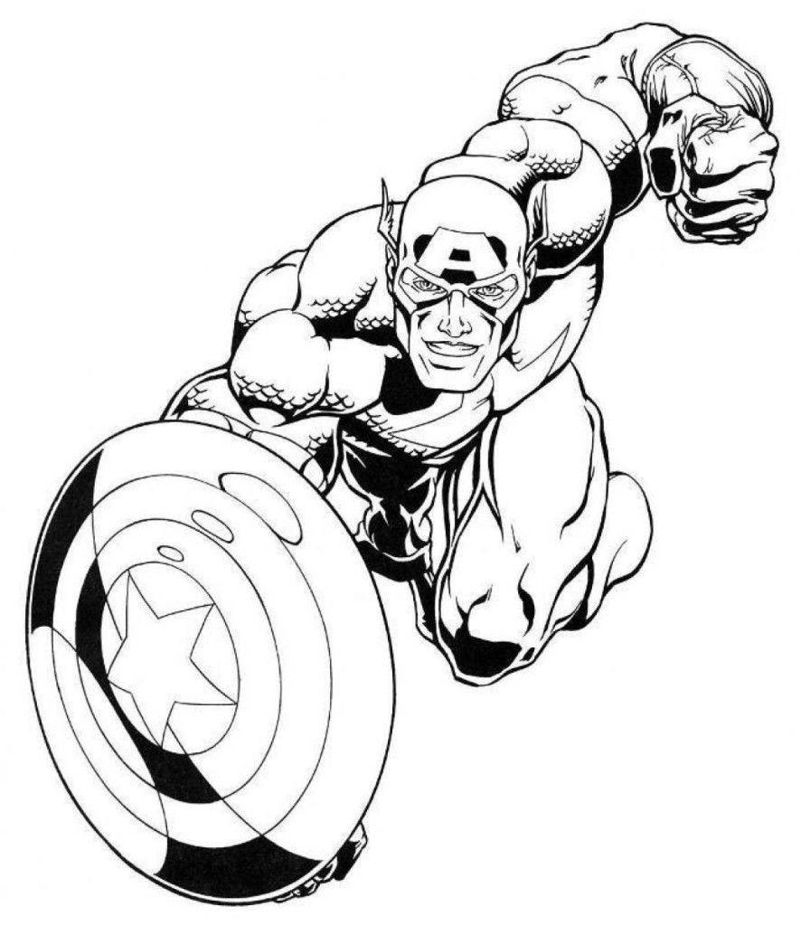 Falcon Avengers Coloring Pages