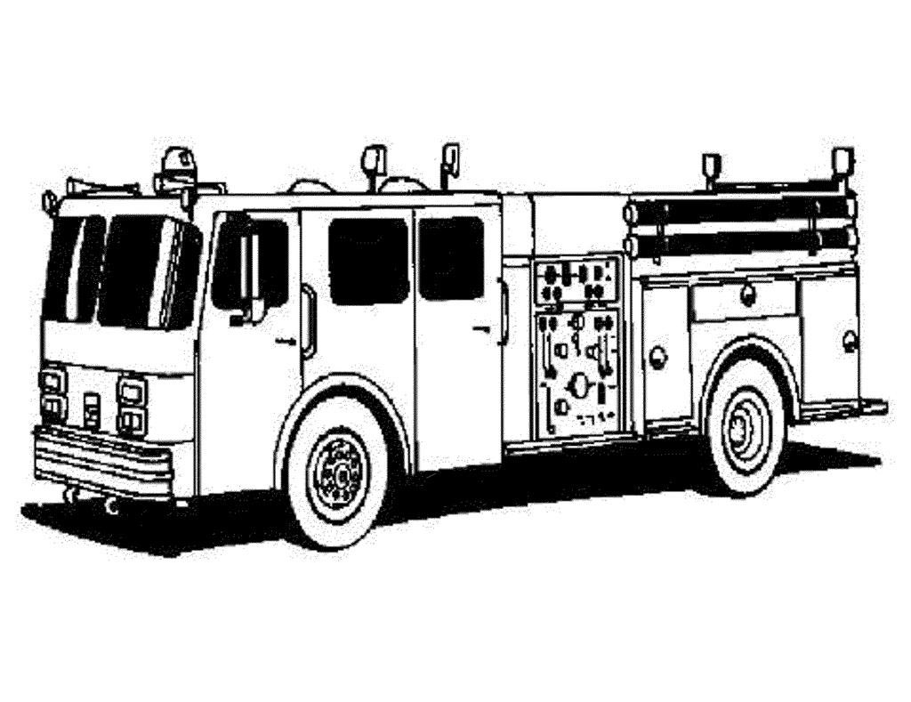 Fire Truck Coloring Pages High Activity Free Printable Coloring Pages