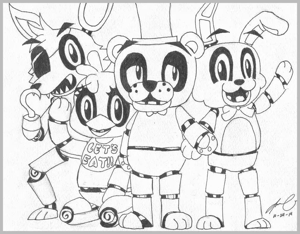 image regarding Five Nights at Freddy's Coloring Pages Printable known as 5 Evenings At Freddy Coloring Internet pages 71 Clipart - Absolutely free