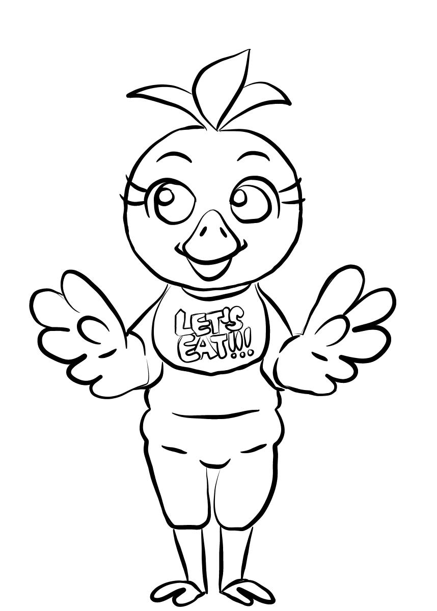 photo relating to Five Nights at Freddy's Coloring Pages Printable titled 5 Evenings At Freddy Coloring Internet pages Chica FNAF - Absolutely free