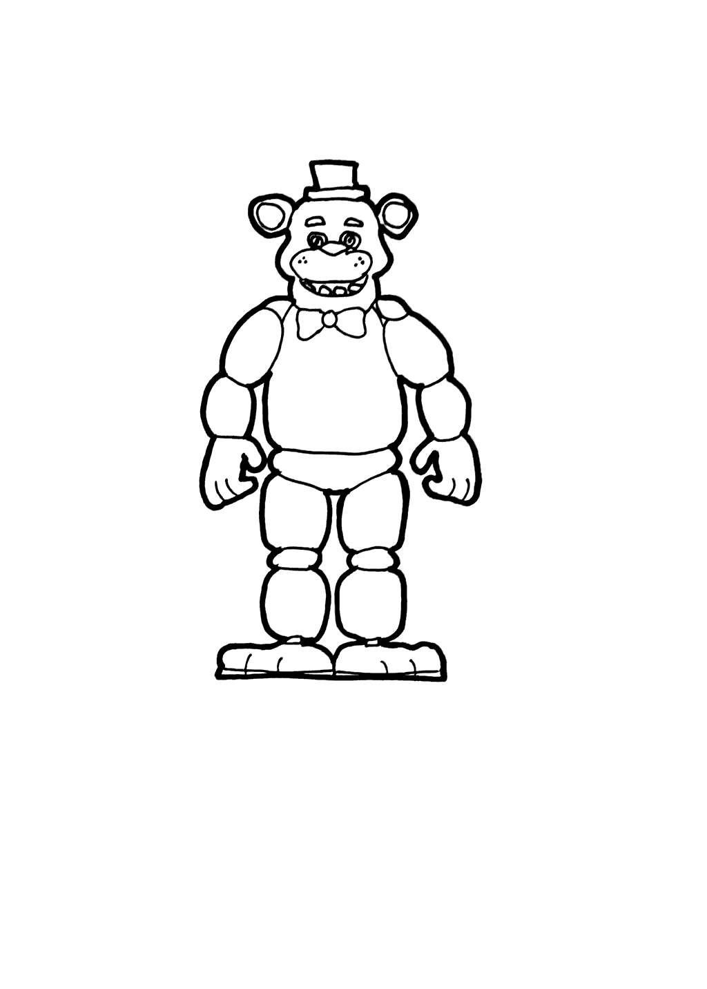 photo regarding Free Printable Five Nights at Freddy's Coloring Pages referred to as 5 Evenings At Freddy Coloring Internet pages Very simple FNAF - Absolutely free