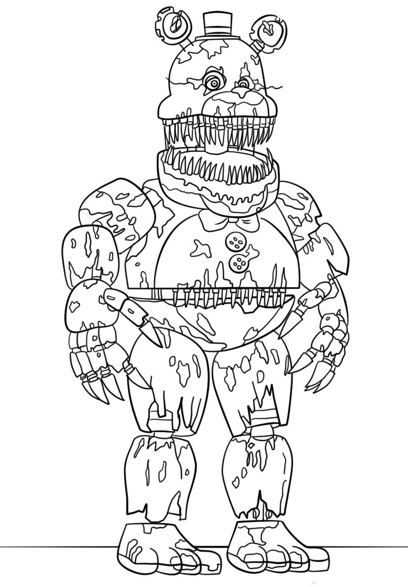 Free Five Nights At Freddy Coloring Pages promise Sister printable