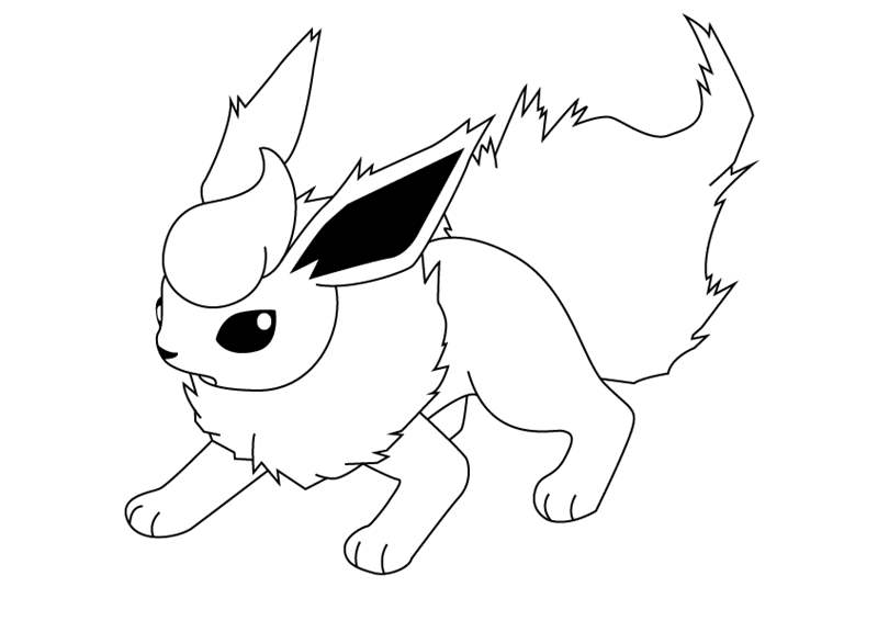 Flareon From Pokemon Coloring Pages Free Printable Coloring Pages
