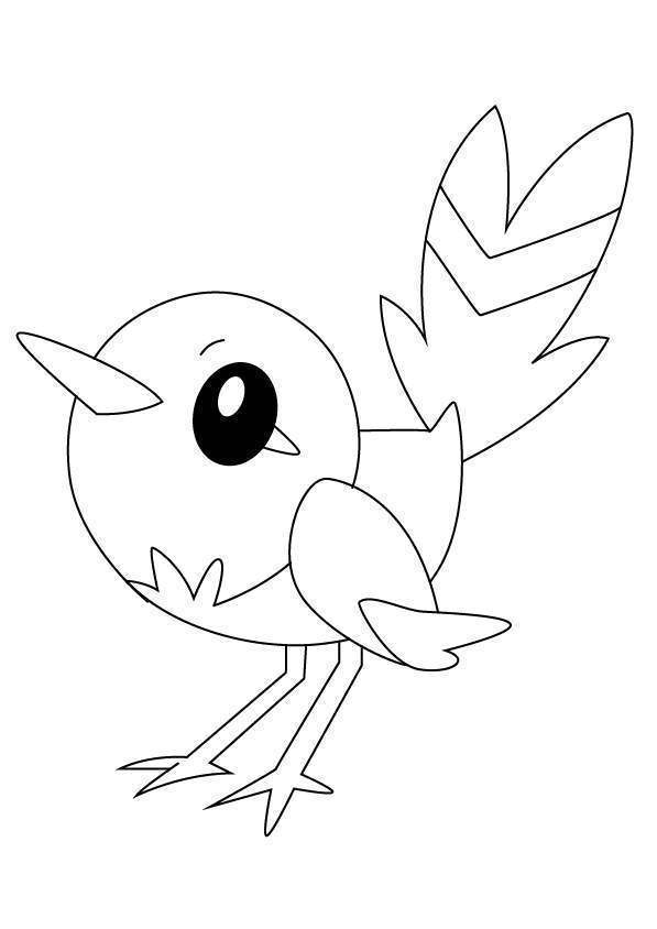 Free Fletchling from Pokemon Coloring Pages printable