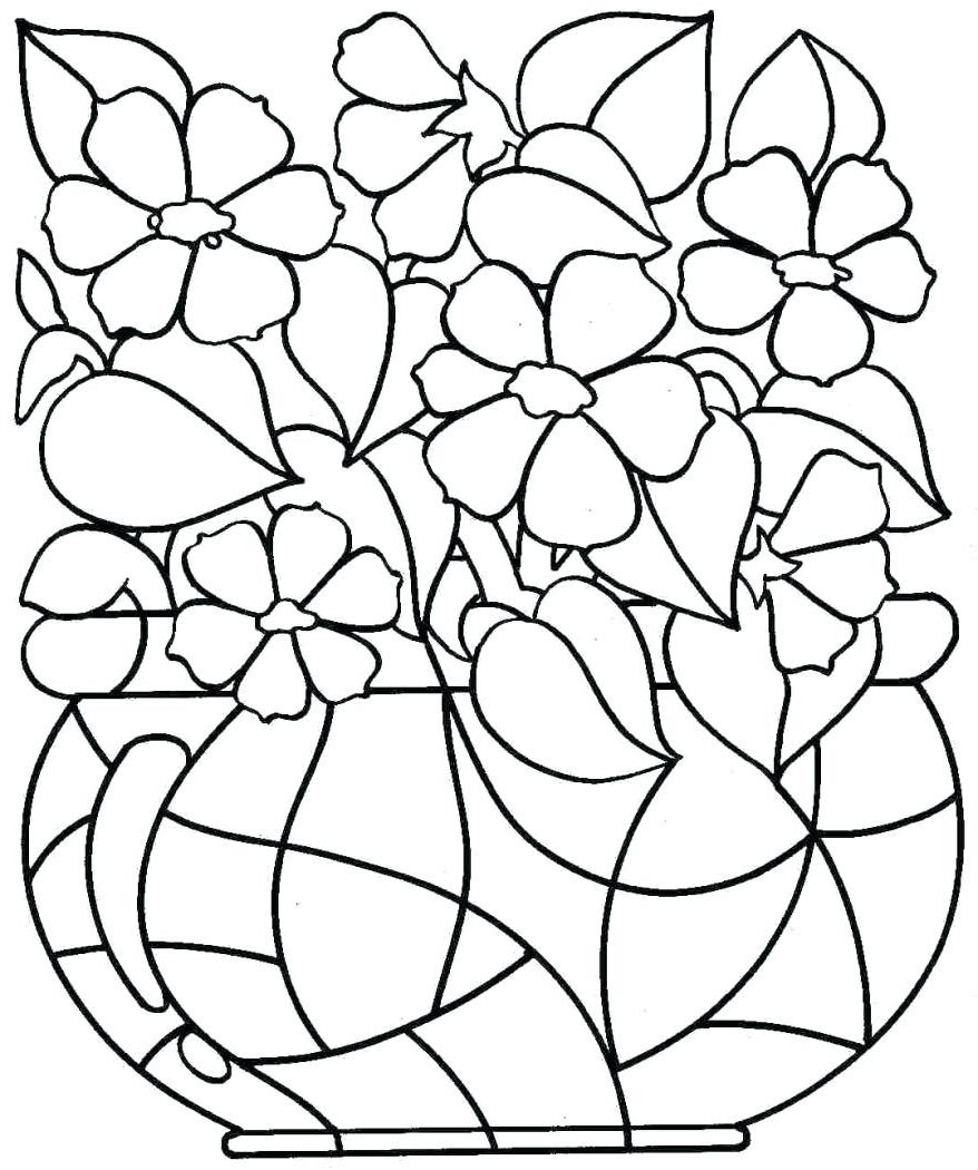 Free Flower Coloring Pages Lifetime Summer Outline printable