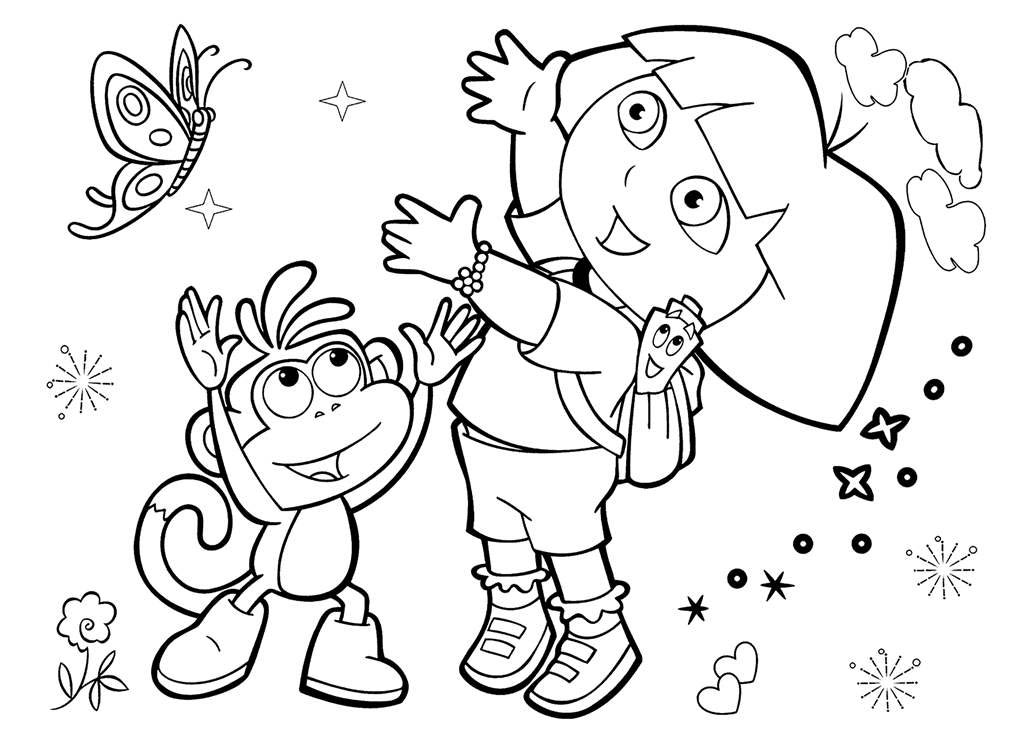 Friendship Coloring Pages Dora Friends Fan Art - Free Printable ...