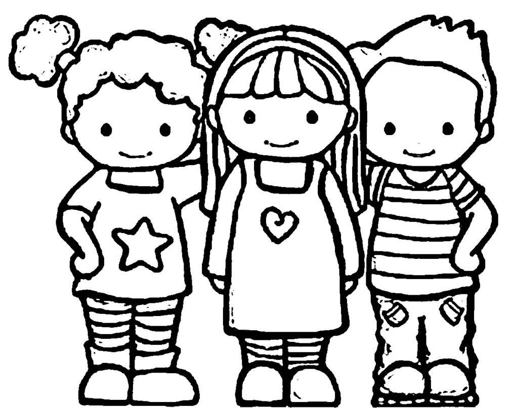 free printable friendship coloring pages - photo#8