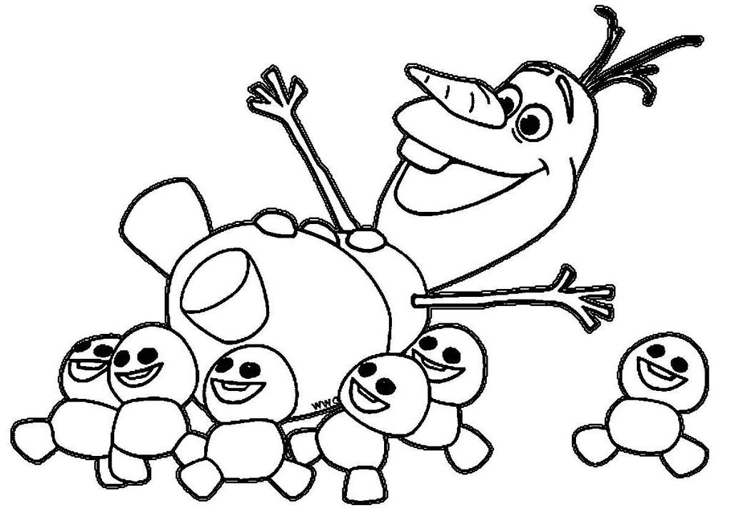 Frozen Olaf Coloring Pages Colouring Hand Drawing