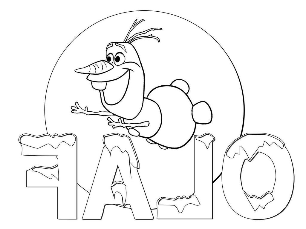 Frozen Olaf Coloring Pages Disney