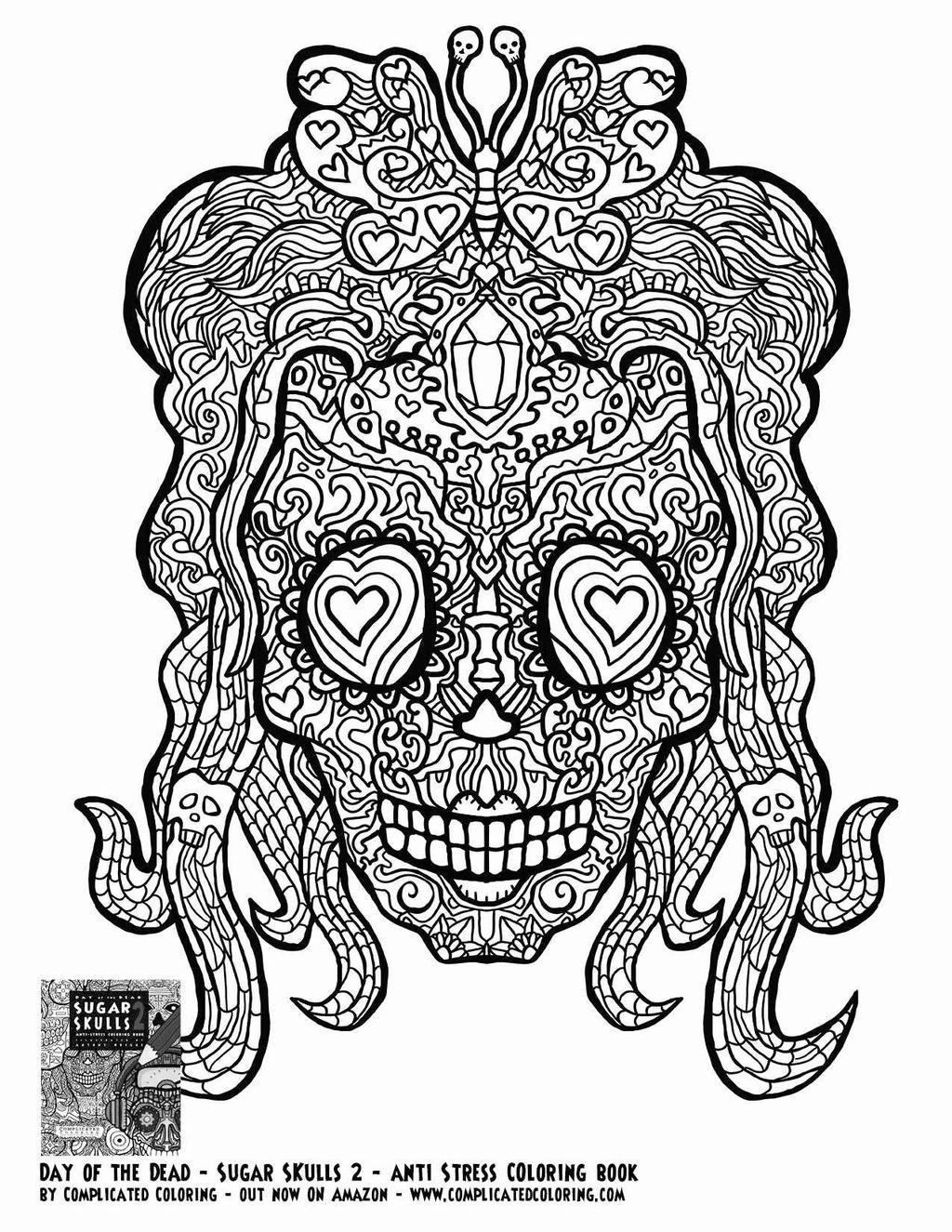 Girl Sugar Skull Coloring Pages Skulls Clipart Free Printable