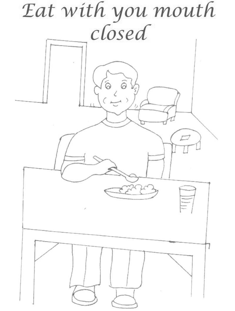 picture regarding Table Manners for Kids Printable named Wonderful Desk Manners Coloring Web pages Youngsters Large - Cost-free Printable