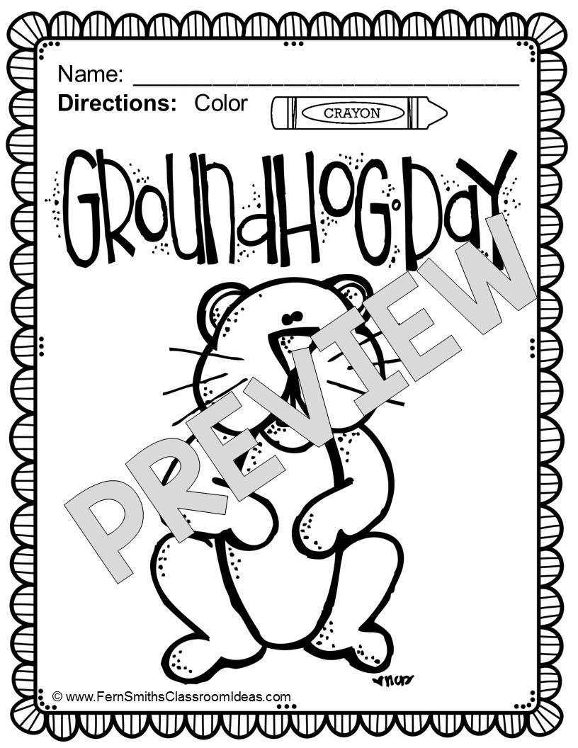 picture about Groundhog Day Coloring Pages Free Printable named Groundhog Working day Coloring Web pages Supporter Artwork - Absolutely free Printable
