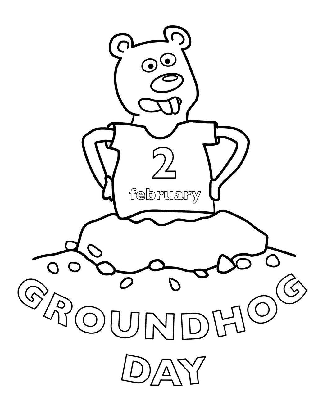 Groundhog Day Coloring Pages for Kids - Free Printable Coloring Pages