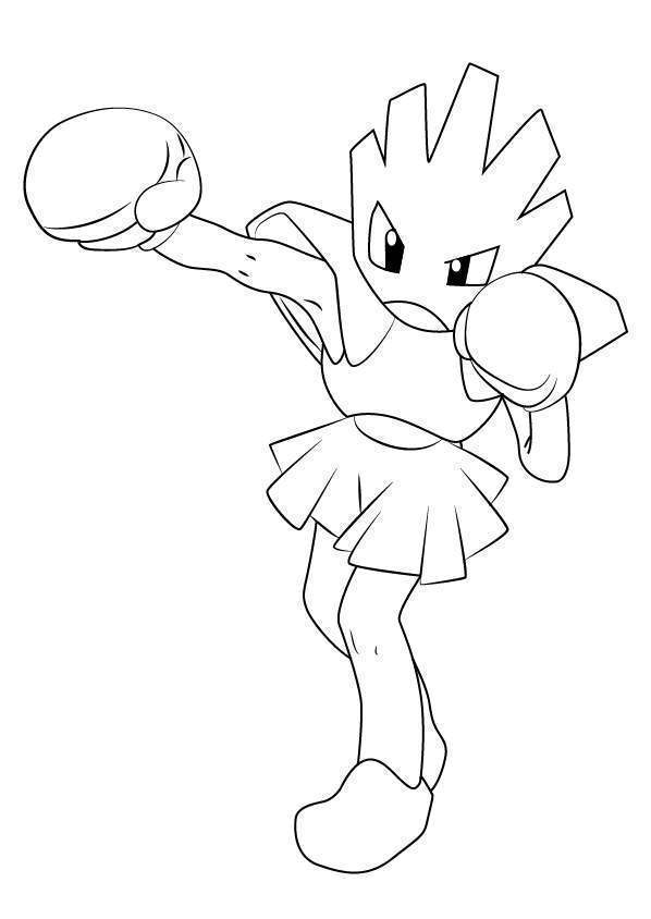 Free Hitmonchan from Pokemon Coloring Pages printable