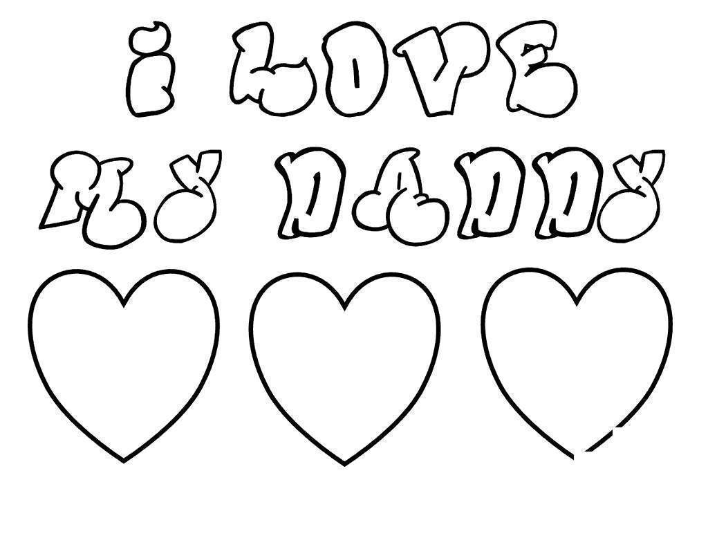 I Love You Papa Coloring Pages
