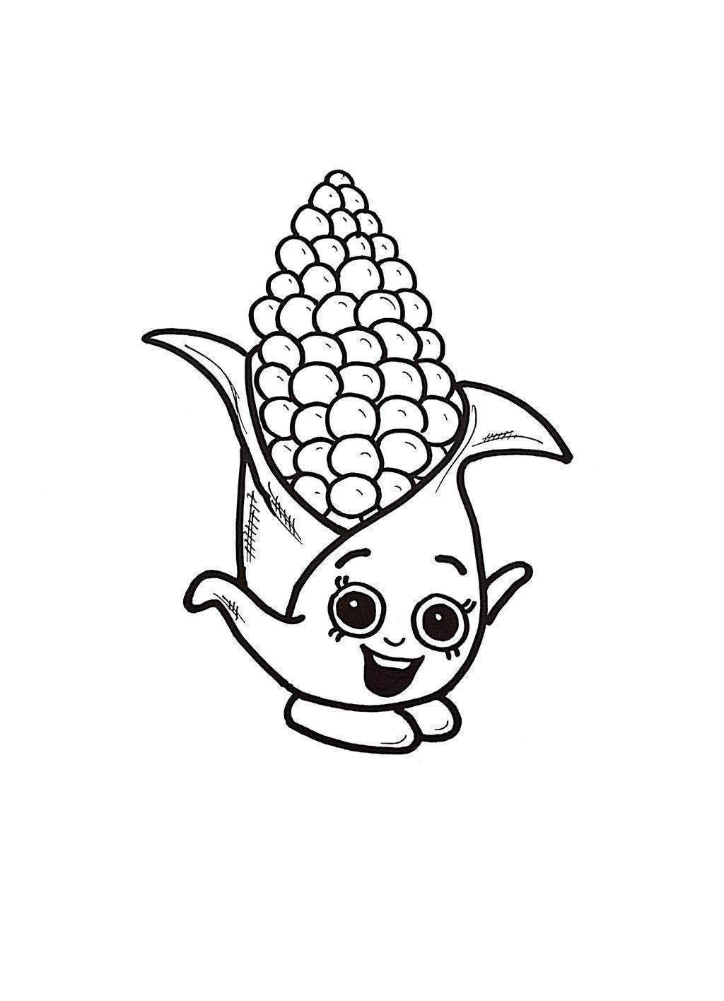 Indian Corn Coloring Pages Symbols Preschoolers Drawing Pictures