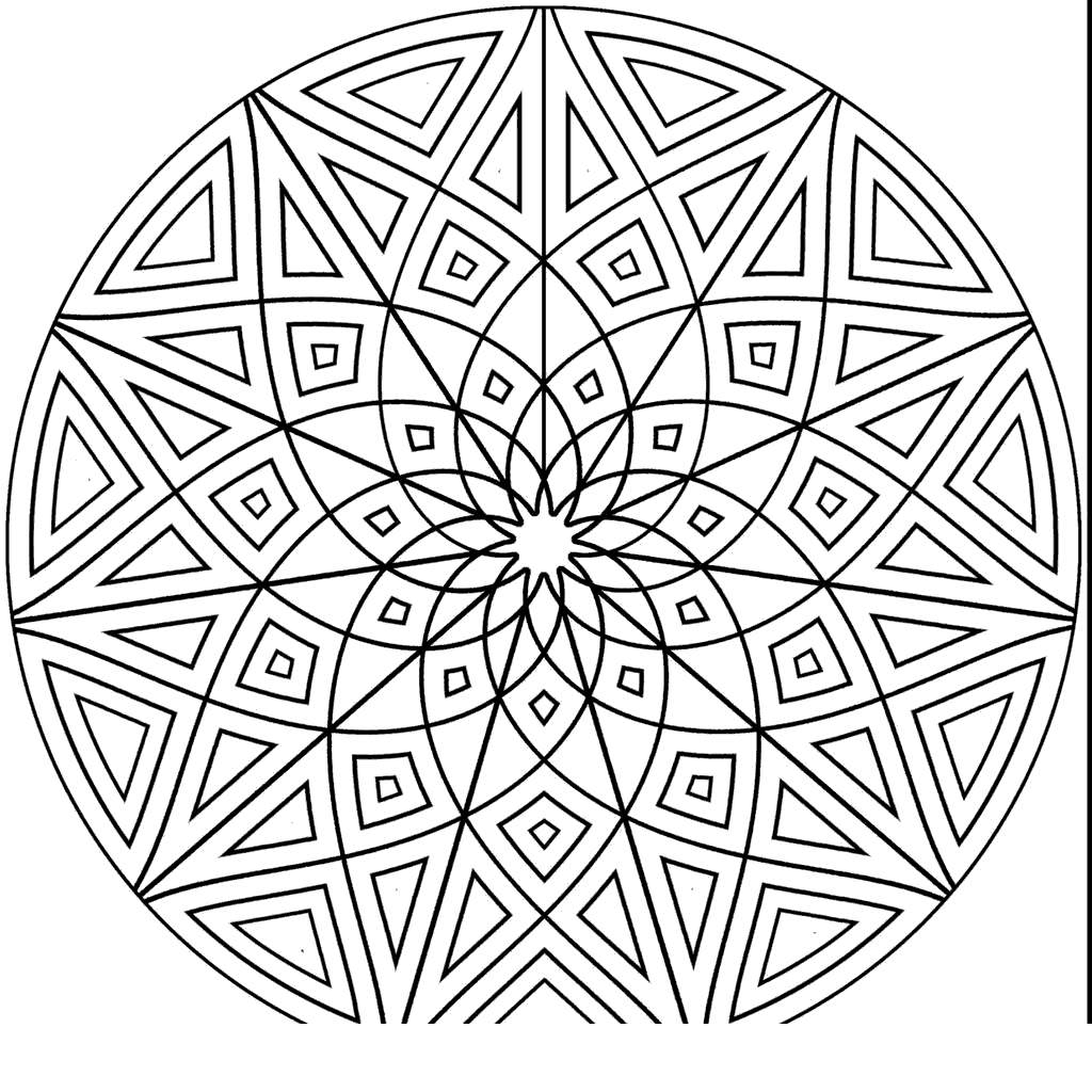 Islamic Art Coloring Pages Geometric