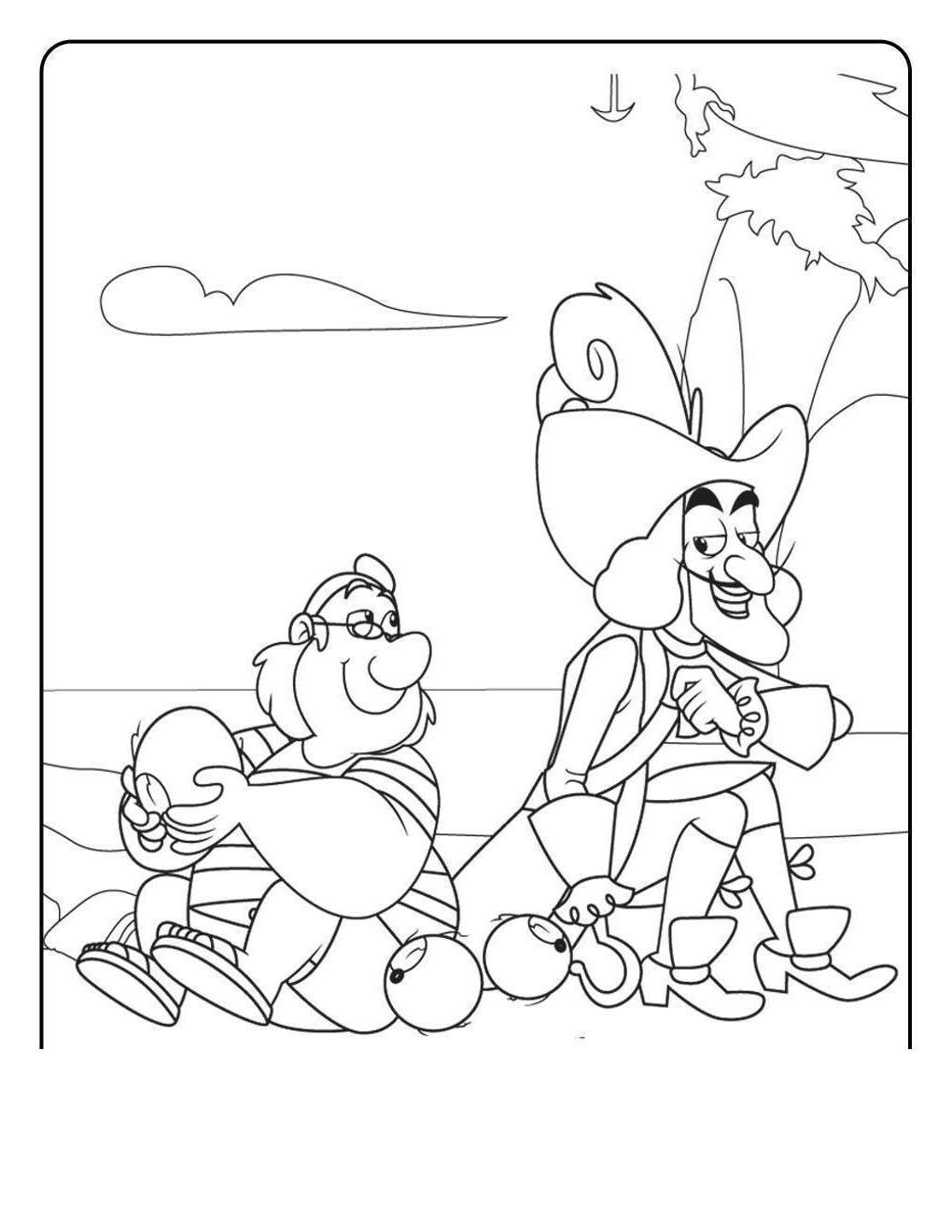 Free Jake And The Neverland Pirates Coloring Pages Disney Sheets Coloring Book printable
