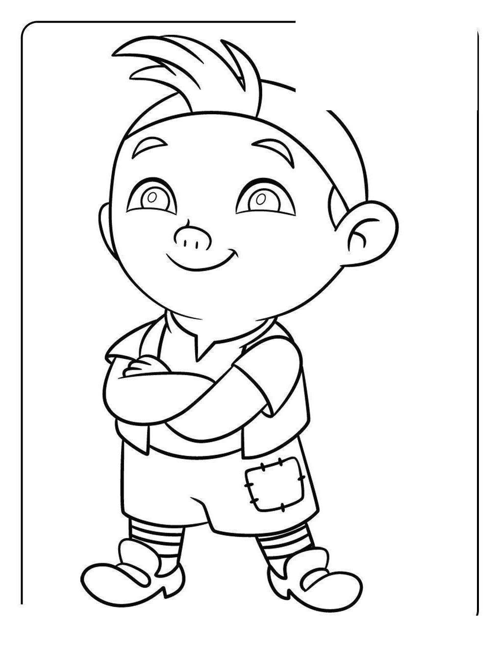 Jake And The Neverland Pirates Coloring Pages Never Land Online