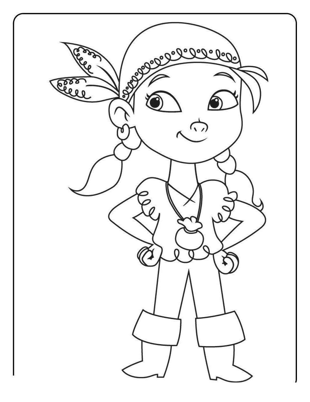 Free Jake And The Neverland Pirates Coloring Pages Never Land for Toddlers printable
