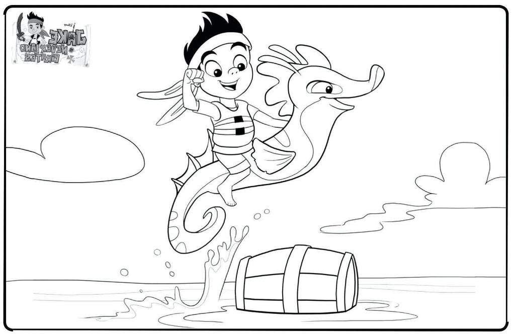 Jake And The Neverland Pirates Coloring Pages ful i Drawing ...
