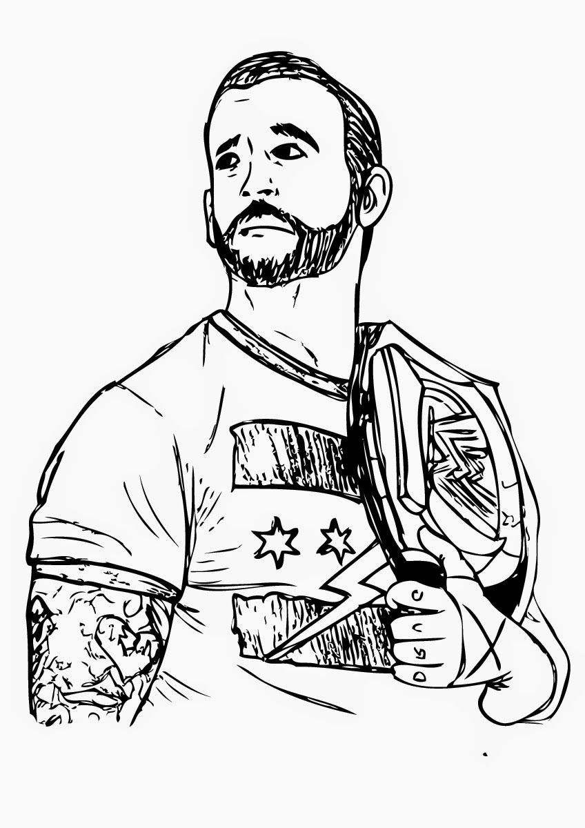 Jeff Hardy Coloring Pages Willpower Wwe Fan Art Free Printable