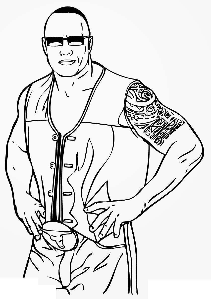 Jeff Hardy Coloring Pages Wwe Clipart Pictures Free Printable