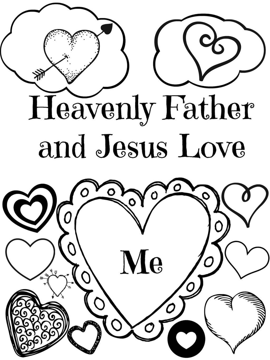 Jesus loves me coloring pages and line worksheet