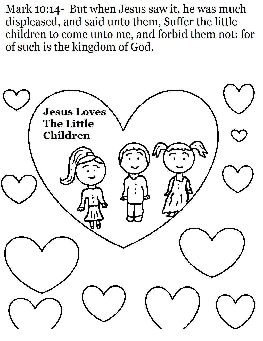 Jesus Loves Me Coloring Pages Love e Hand Drawing - Free ...