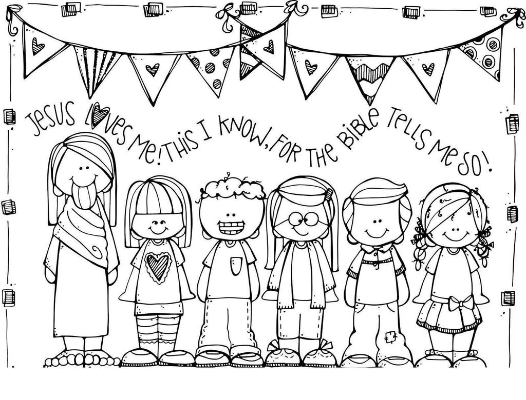 Jesus Loves Me Coloring Pages Preschool
