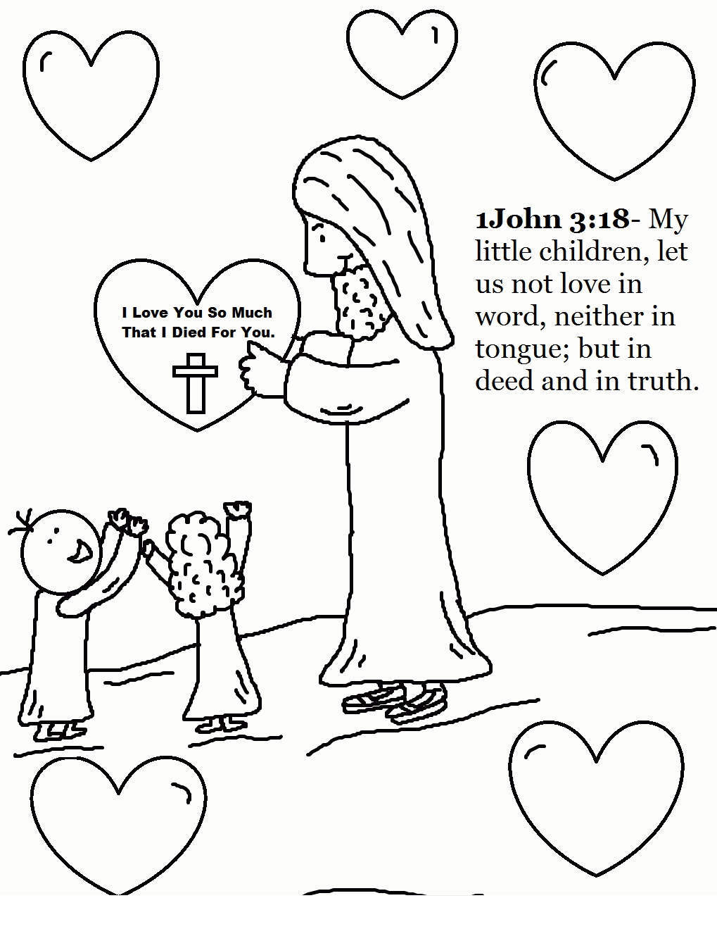 Jesus Loves Me Coloring Pages Sheet Gallery for Boys - Free ...
