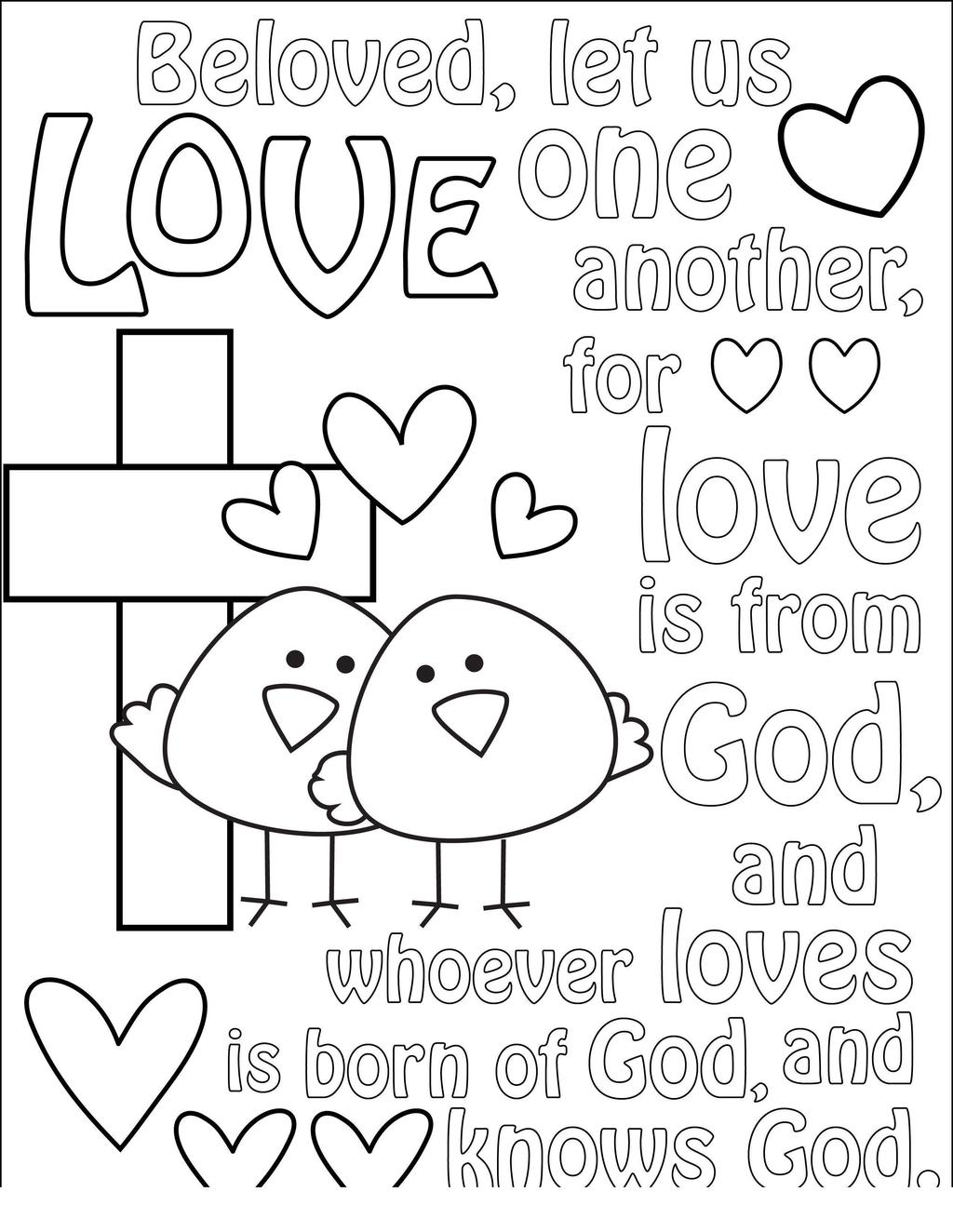 Jesus loves me coloring pages sheet online