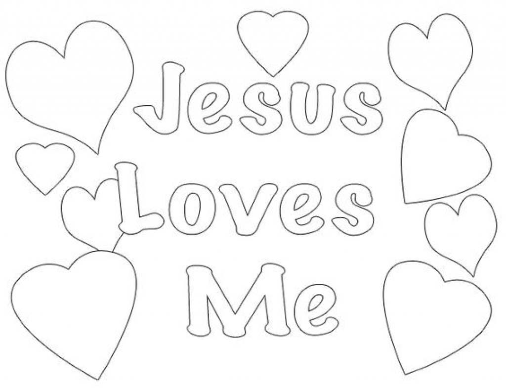 Jesus Loves Me Coloring Pages Sheet Seatle for Adults - Free ...