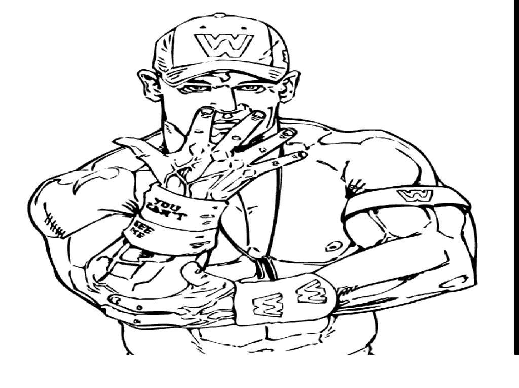 John Cena Coloring Pages Wwe Awesome Free Printable Coloring Pages