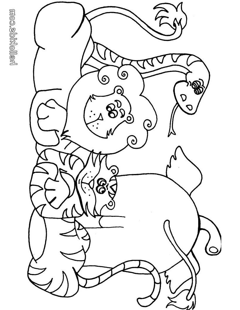 Jungle Animal Coloring Pages AFRICAN ANIMALS Lineart - Free ...