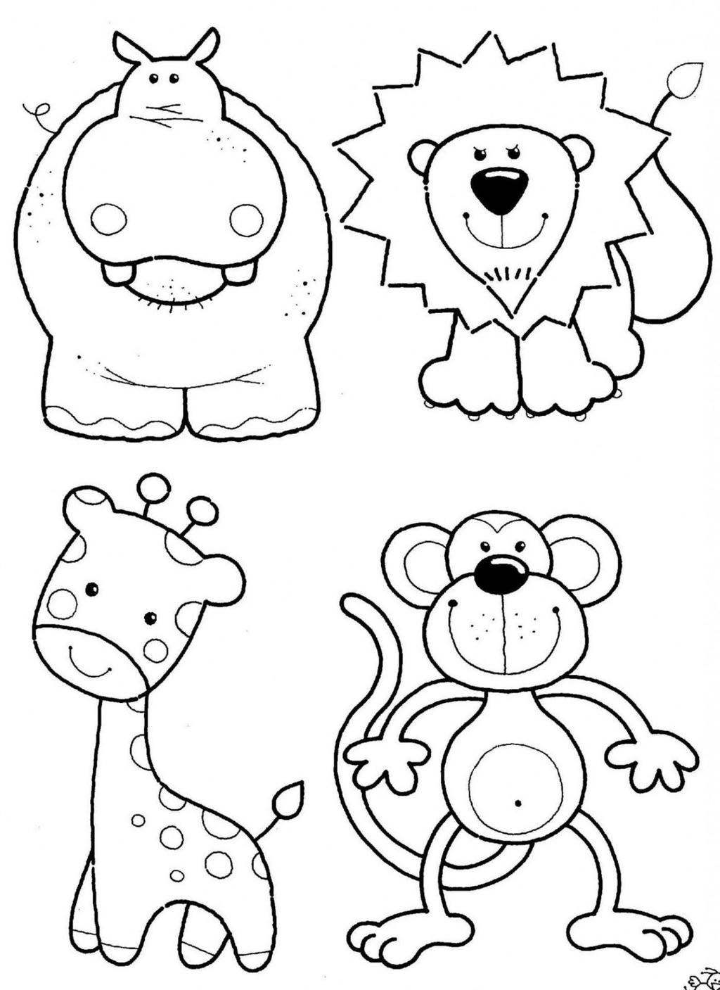 Free Jungle Animal Coloring Pages List Animals Drawings printable