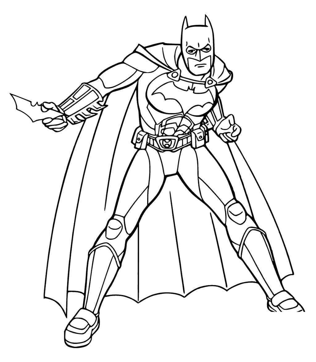 Knight Coloring Pages Batman Arkham Free Printable