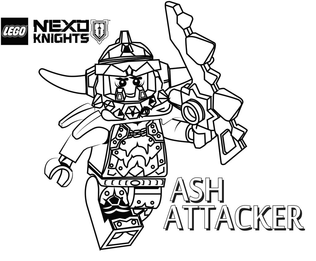Knight Coloring Pages Refundable Nexo