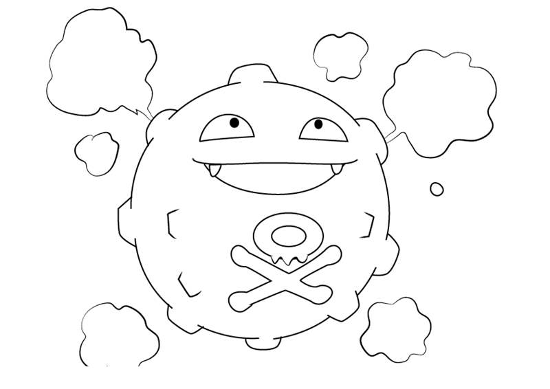 Free Koffing from Pokemon Coloring Pages printable