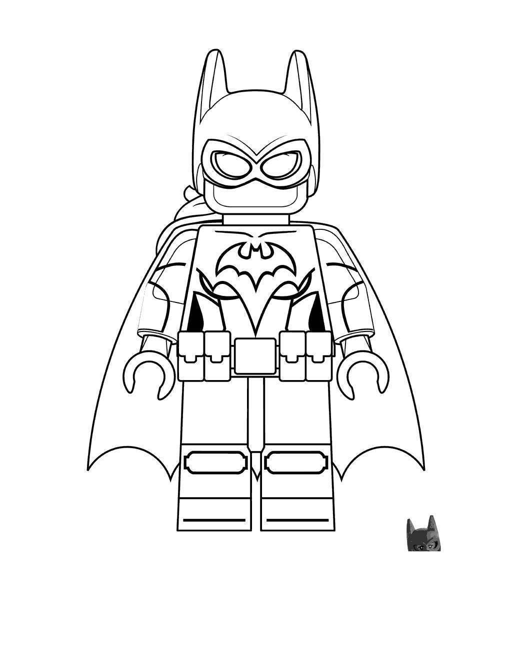 Lego Superhero Batman Coloring Pages Sheets Line Drawing Free