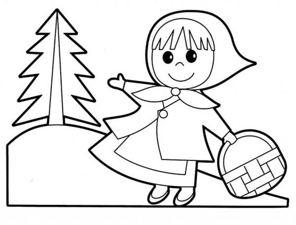 red riding hood coloring pages - photo#14