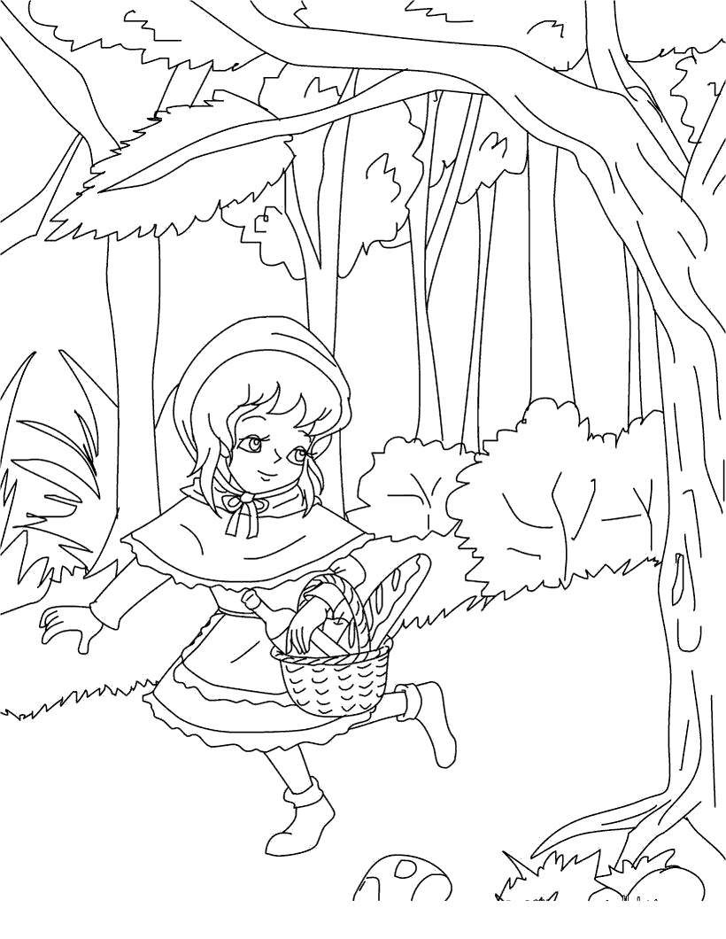Little Red Riding Hood Coloring Pages The Little Free Printable