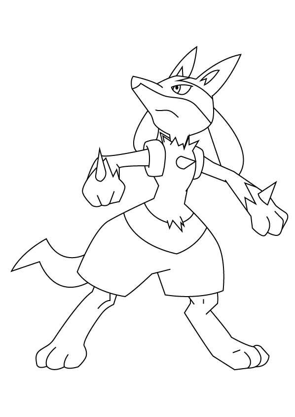 coloring pages of lucario | Lucario from Pokemon Coloring Pages - Free Printable ...