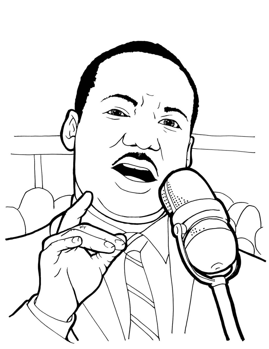 Martin Luther King Jr Day Coloring Pages Master For Adults Free